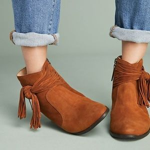 9584d9ba381 Anthropologie Shoes - ANTHROPOLOGIE Schutz Tied Suede Boots NWT HTF